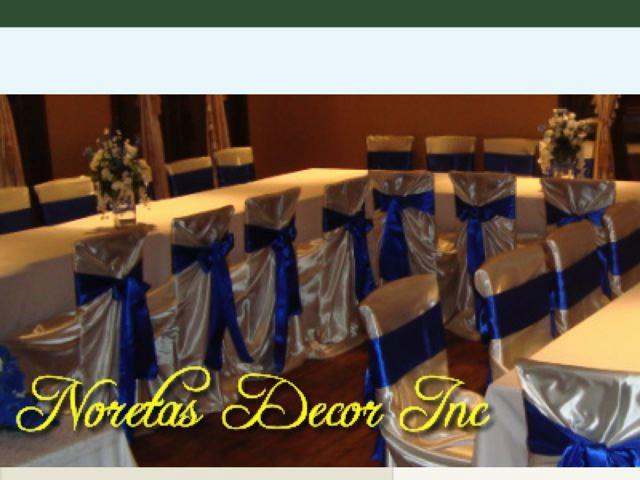 Noretas Decor Inc Calgary Wedding Decorator Metro Calgary Wedding